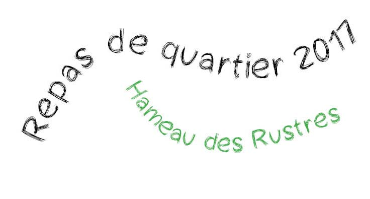 Repas de quatier - plaisians 2017